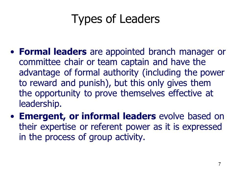 3/25/2017 Types of Leaders.
