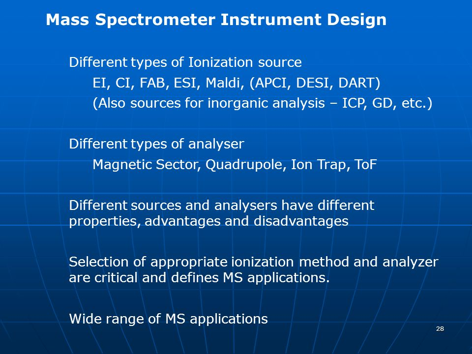 Mass Spectrometer Instrument Design