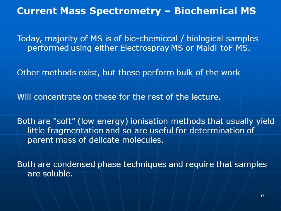 Current Mass Spectrometry – Biochemical MS