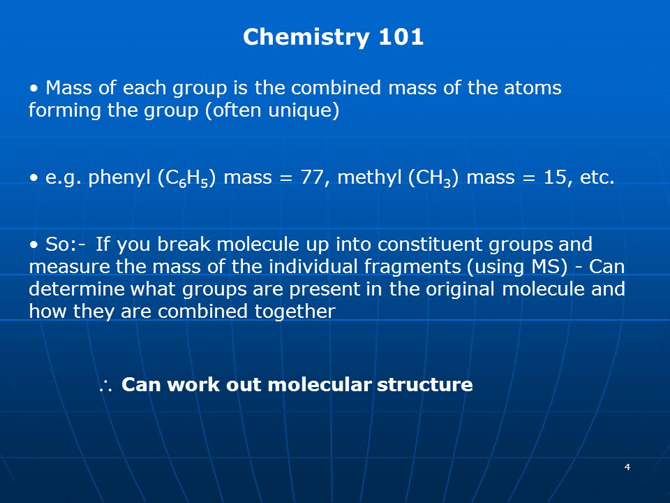  Can work out molecular structure