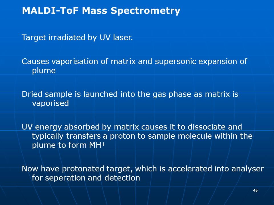 MALDI-ToF Mass Spectrometry