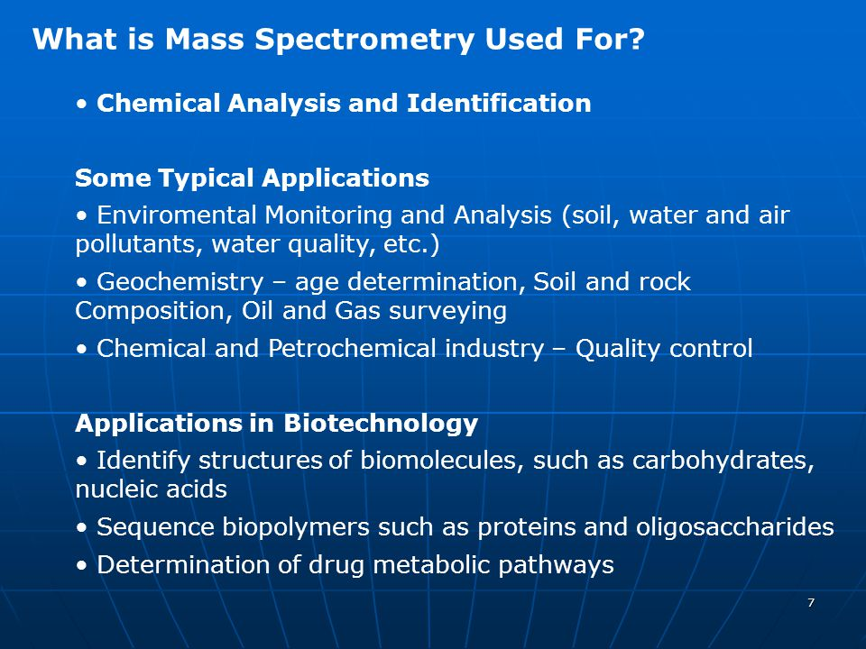 What is Mass Spectrometry Used For