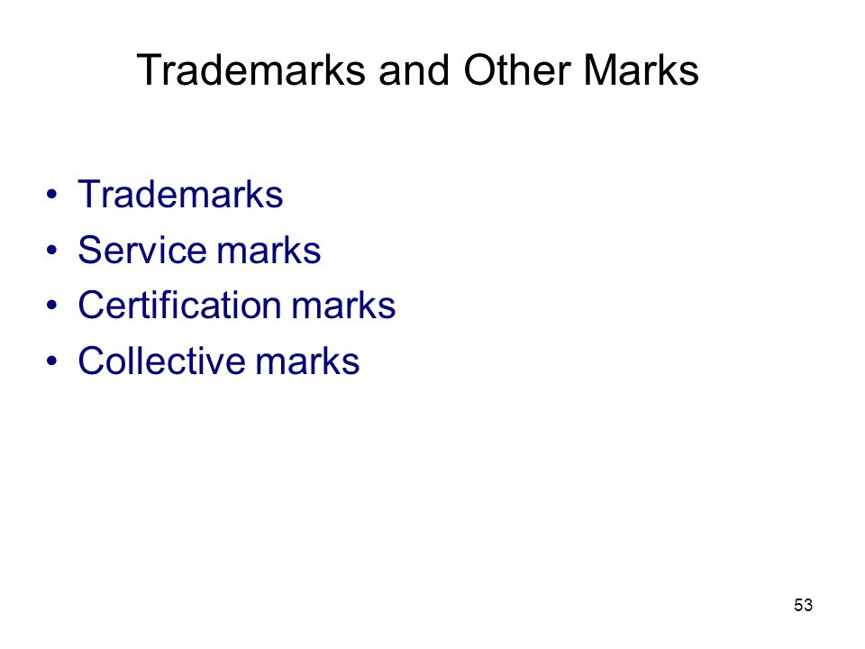 Trademarks and Other Marks