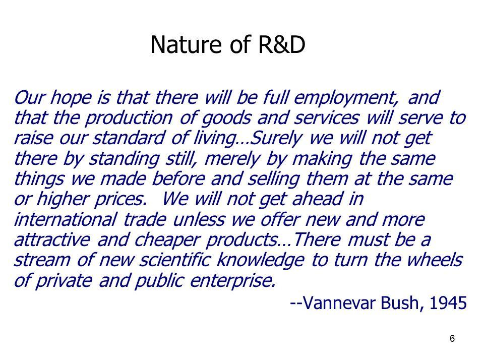 Nature of R&D