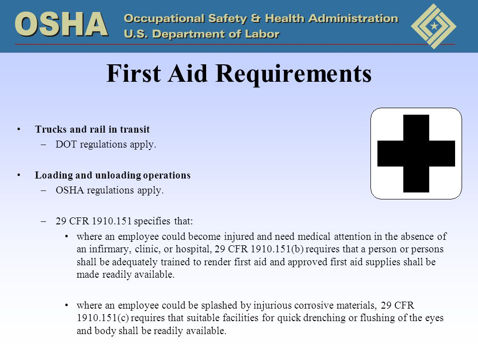 First Aid Requirements