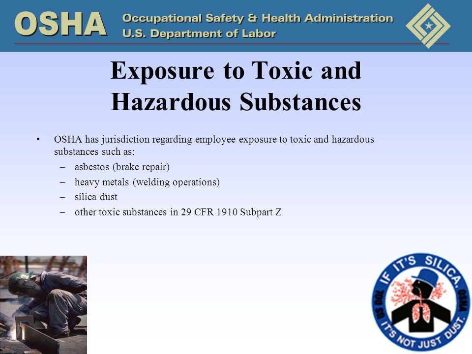 Exposure to Toxic and Hazardous Substances