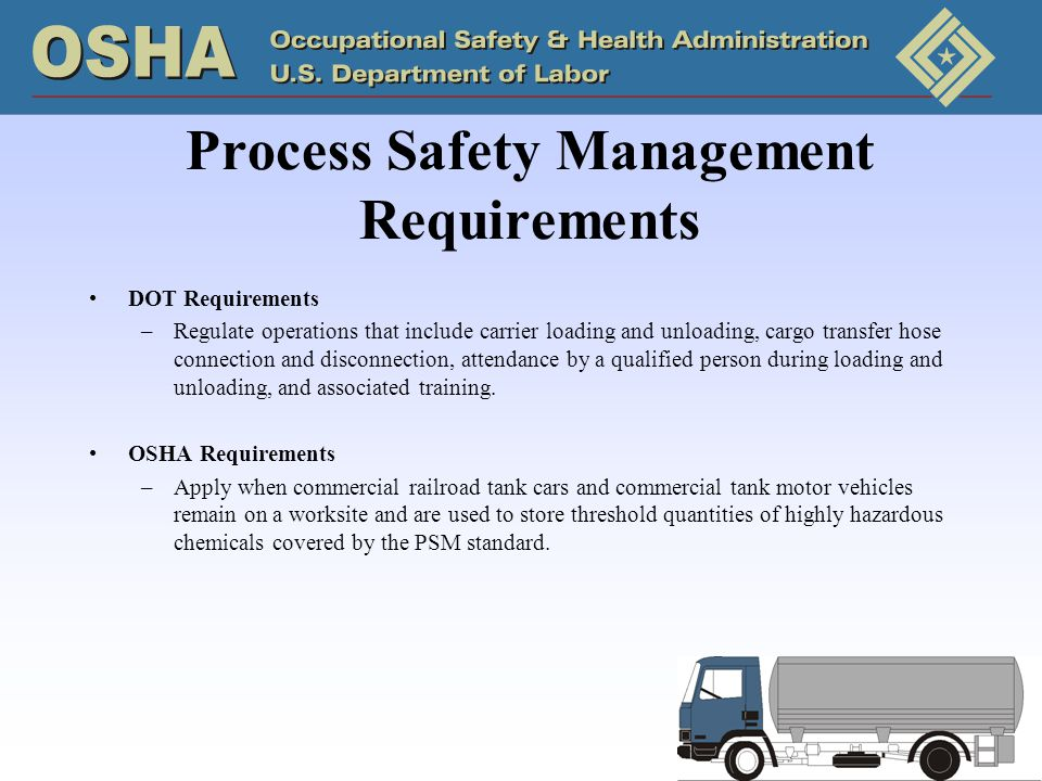 Process Safety Management Requirements