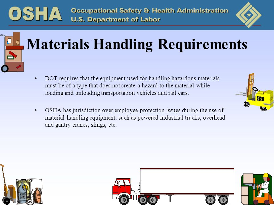 Materials Handling Requirements