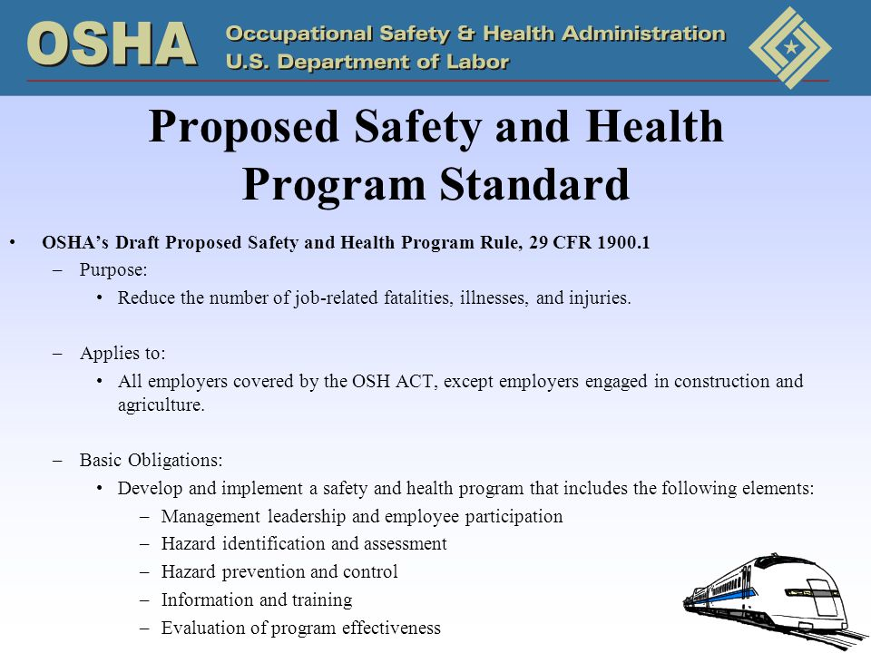 Proposed Safety and Health Program Standard