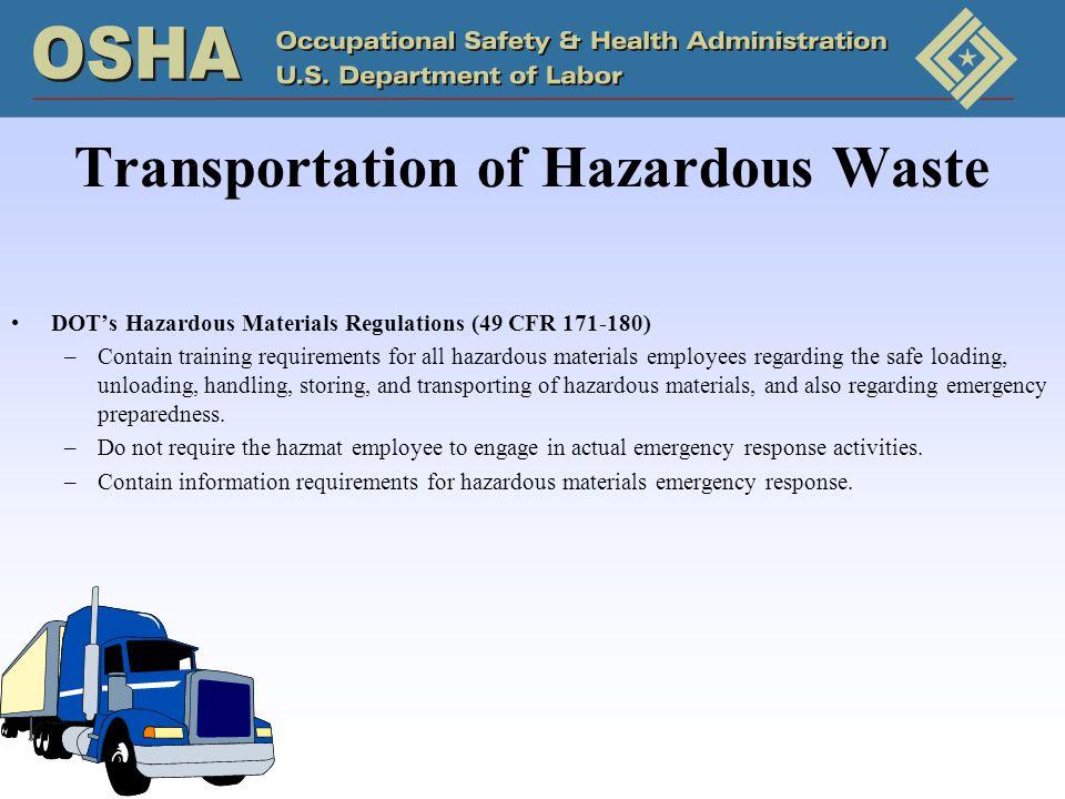 Transportation of Hazardous Waste
