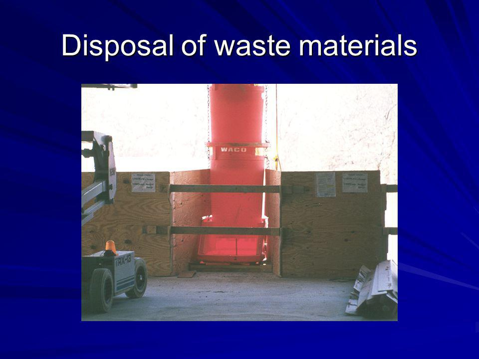 Disposal of waste materials