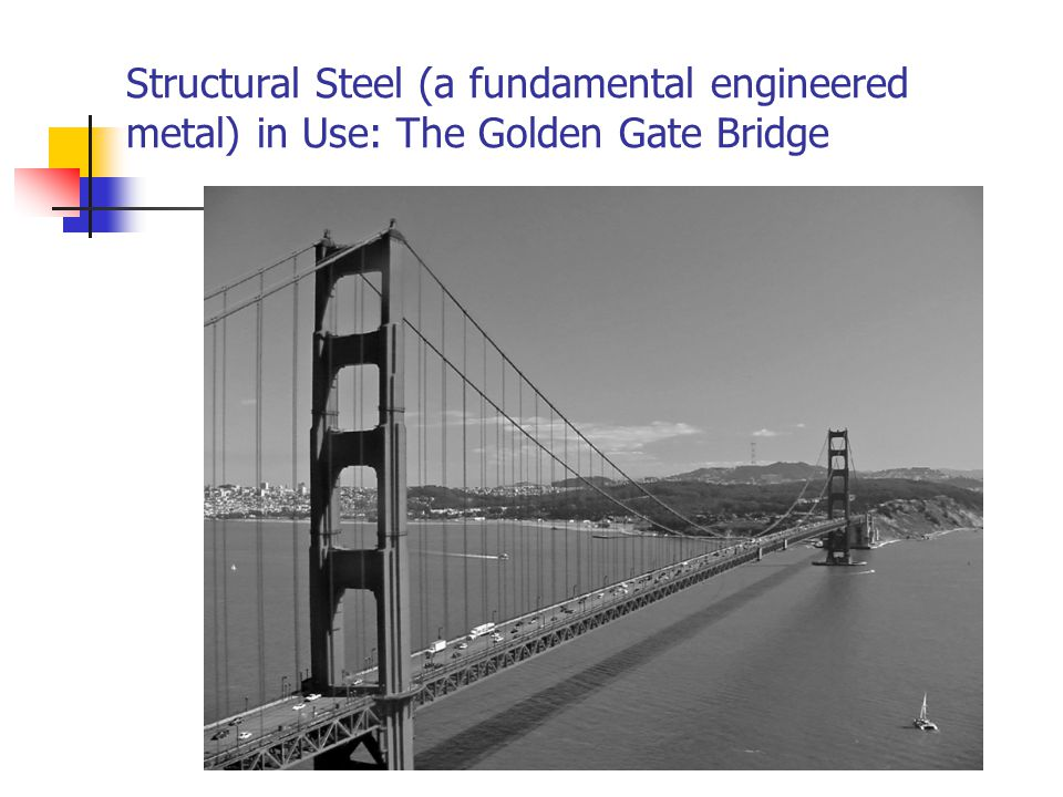 Structural Steel (a fundamental engineered metal) in Use: The Golden Gate Bridge