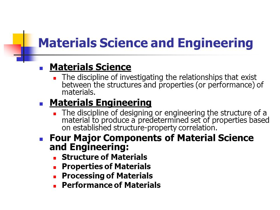 Materials Science and Engineering