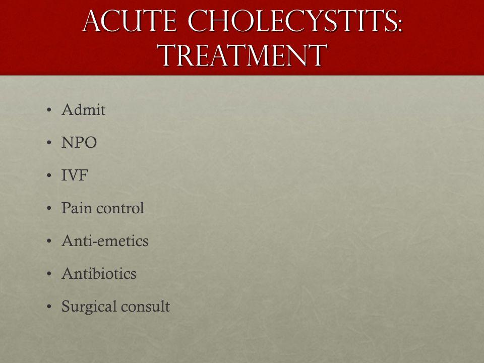 Acute Cholecystits: Treatment