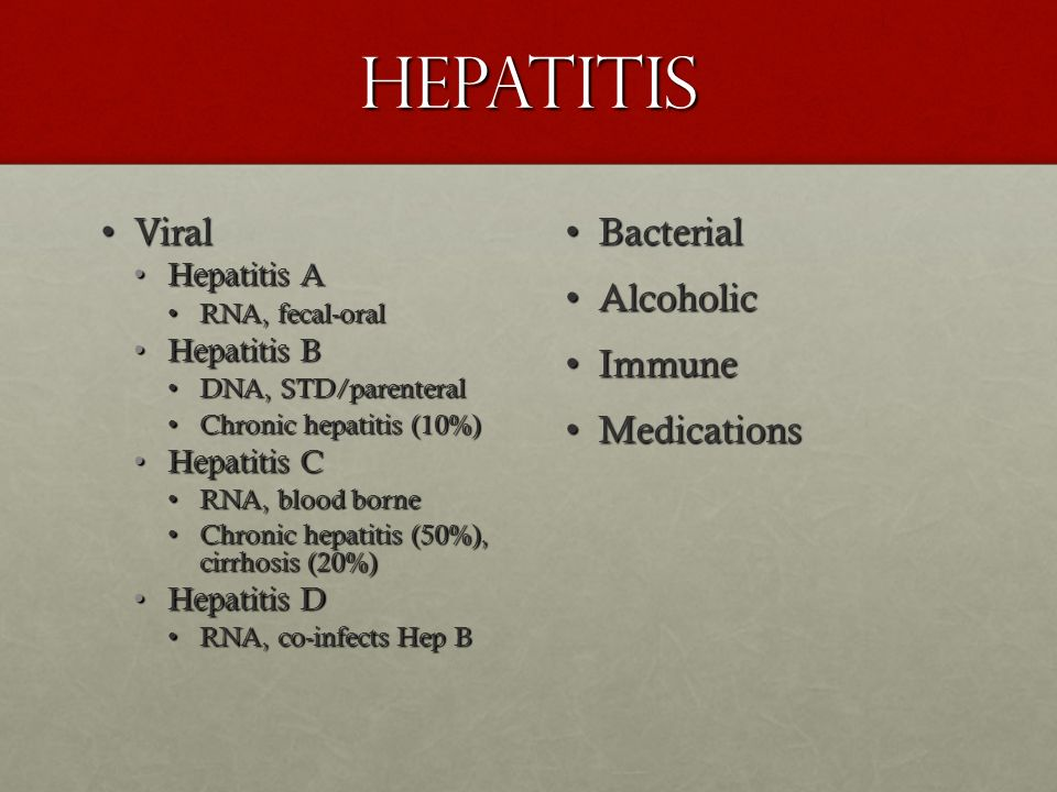 Hepatitis Viral Bacterial Alcoholic Immune Medications Hepatitis A