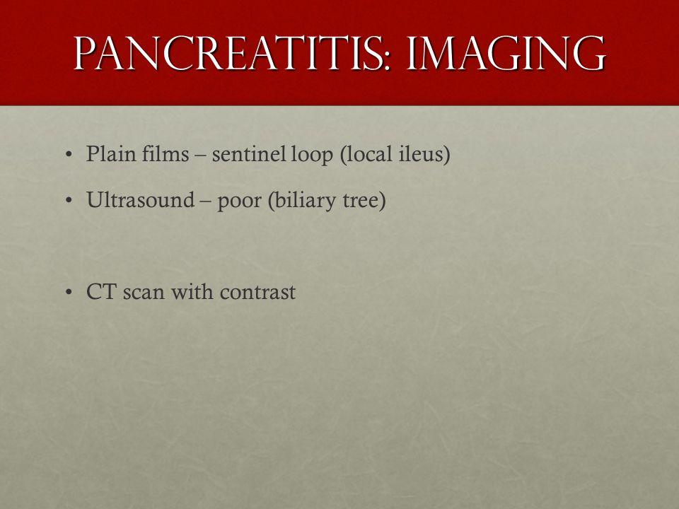 Pancreatitis: Imaging