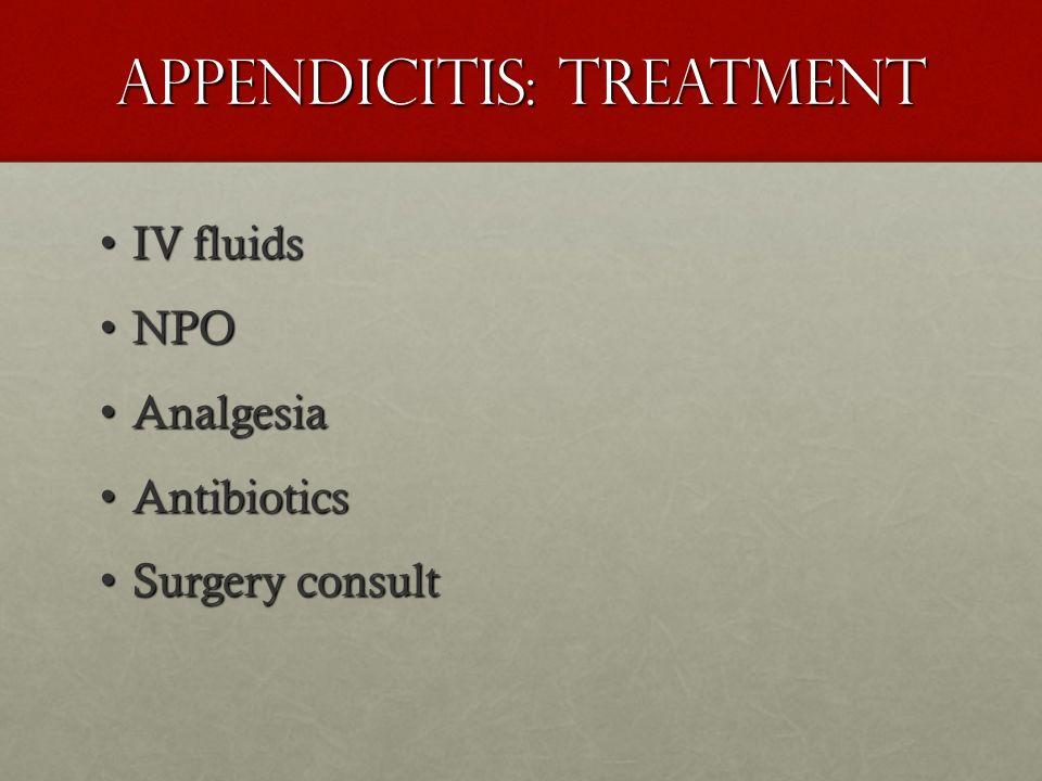 Appendicitis: Treatment