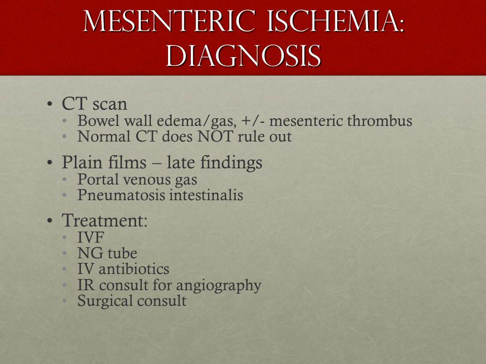 Mesenteric Ischemia: Diagnosis