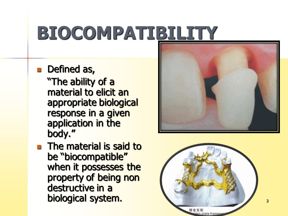 BIOCOMPATIBILITY Defined as,