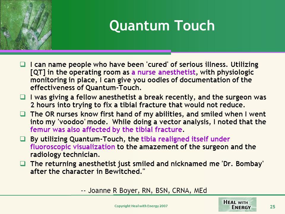 -- Joanne R Boyer, RN, BSN, CRNA, MEd