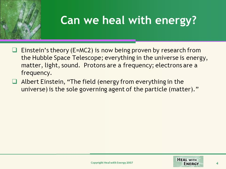 Can we heal with energy