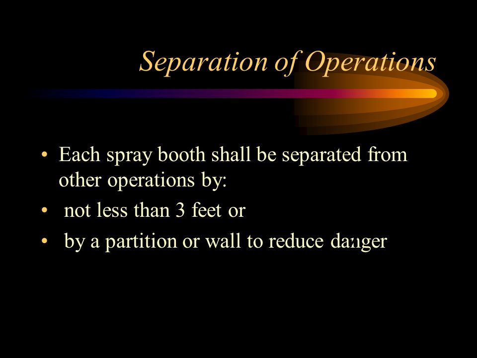 Separation of Operations