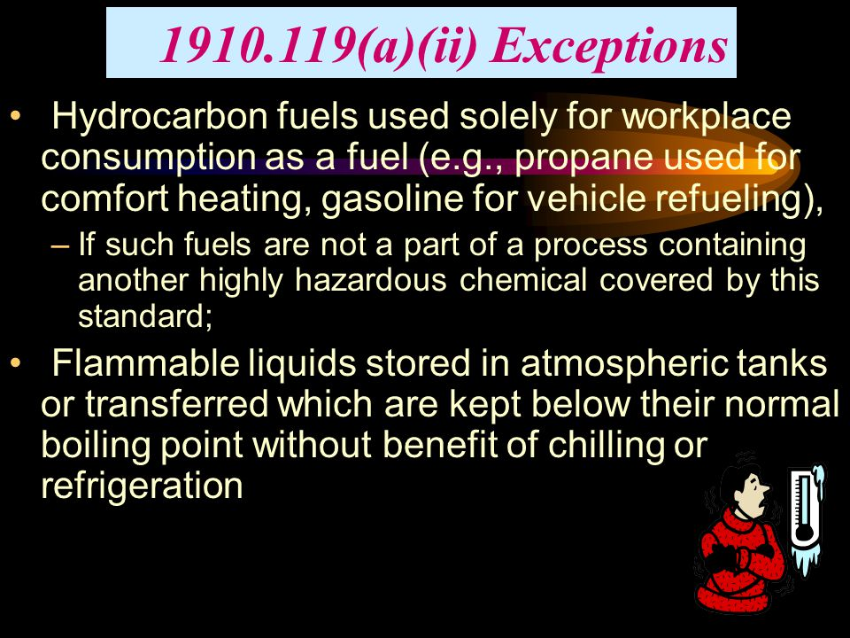 1910.119(a)(ii) Exceptions