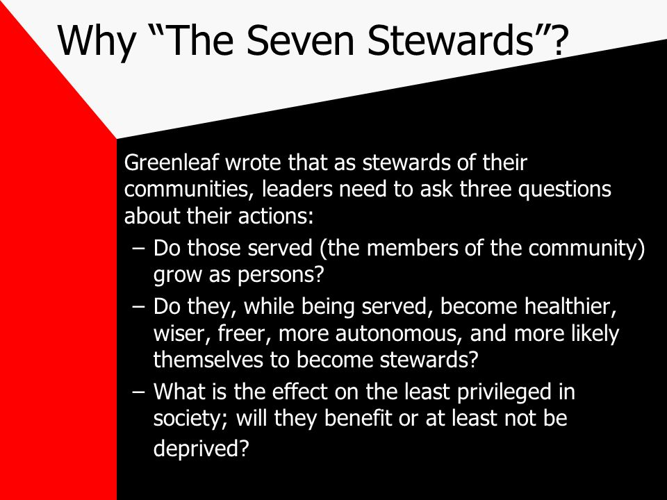 Why The Seven Stewards