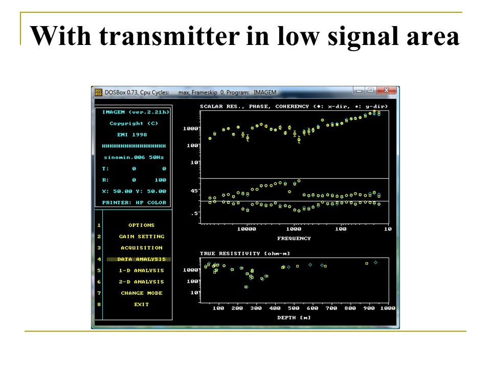 With transmitter in low signal area