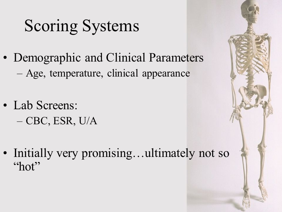 Scoring Systems Demographic and Clinical Parameters Lab Screens: