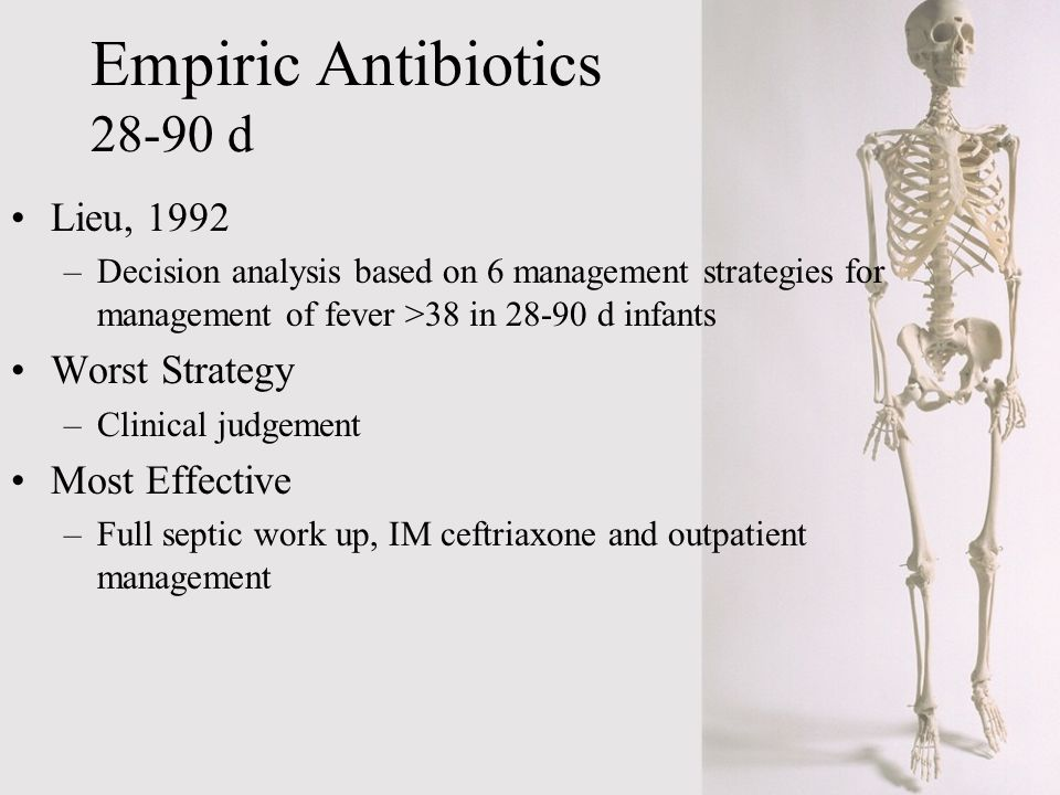 Empiric Antibiotics 28-90 d