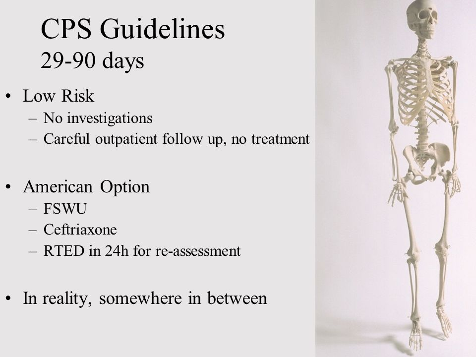 CPS Guidelines 29-90 days Low Risk American Option