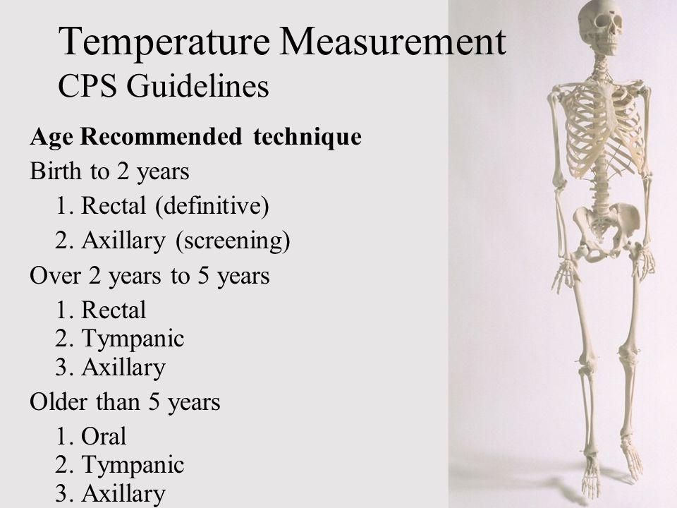 Temperature Measurement CPS Guidelines