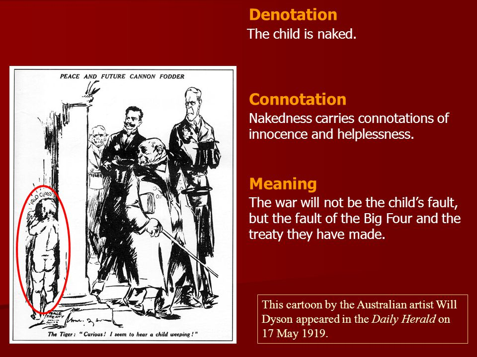 Denotation Connotation Meaning The child is naked.