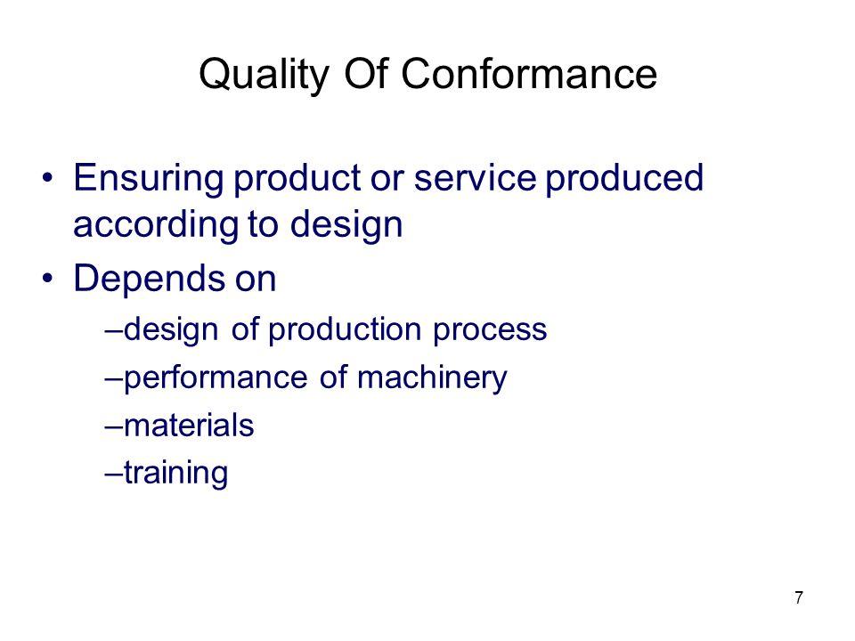 Quality Of Conformance