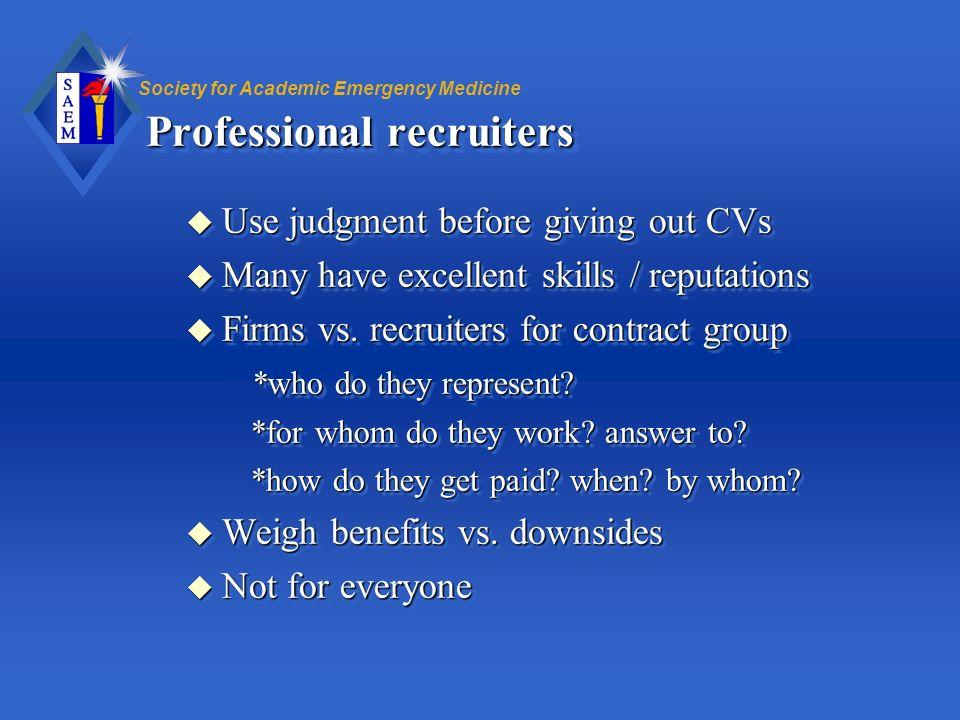 Professional recruiters
