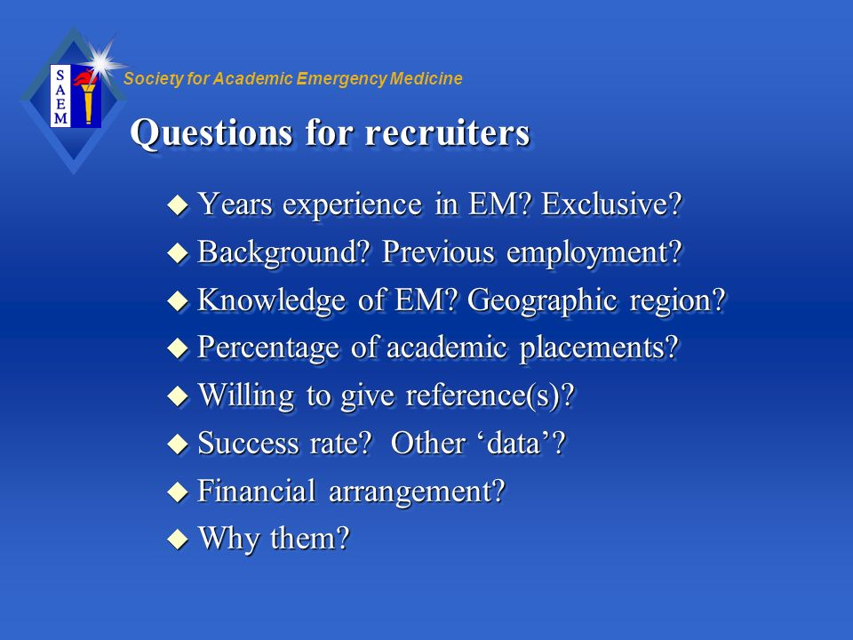 Questions for recruiters