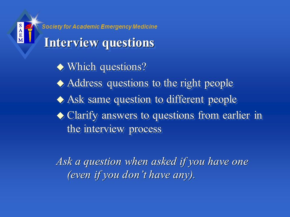 Interview questions Which questions