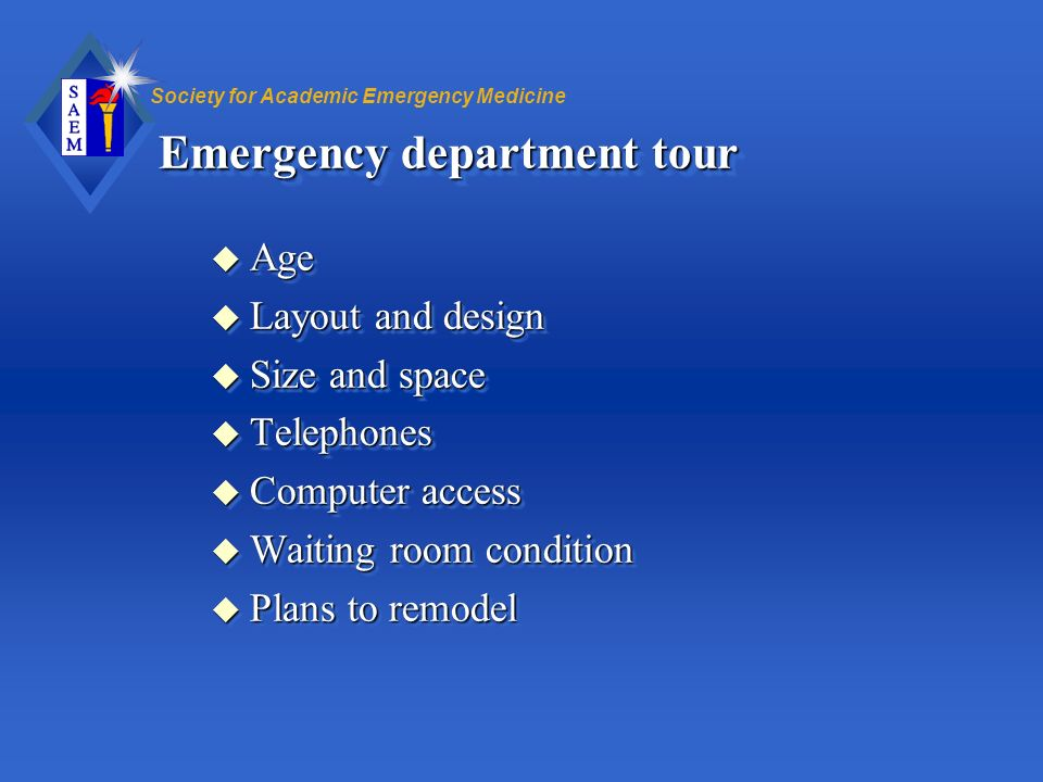 Emergency department tour