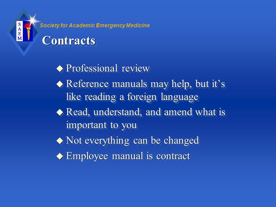 Contracts Professional review