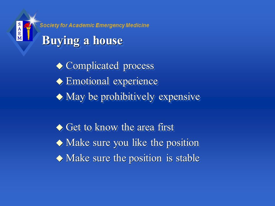 Buying a house Complicated process Emotional experience