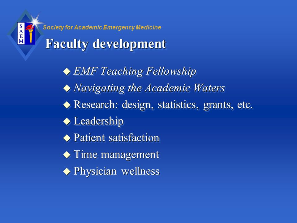 Faculty development EMF Teaching Fellowship