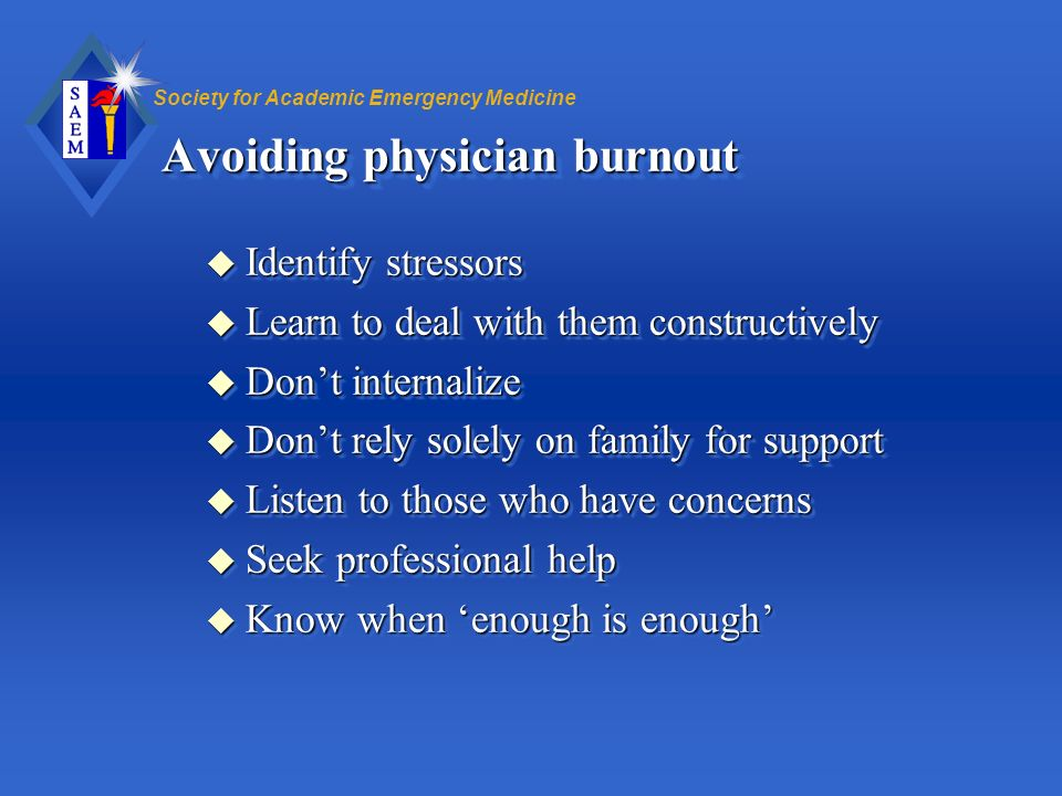 Avoiding physician burnout