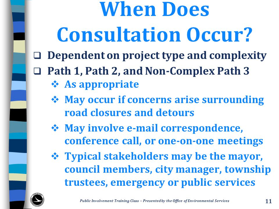 When Does Consultation Occur