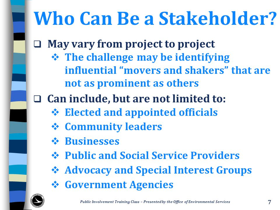Who Can Be a Stakeholder