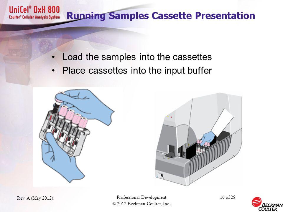 Running Samples Cassette Presentation