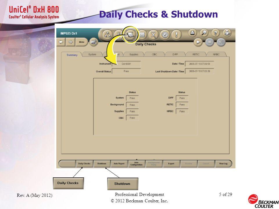 Daily Checks & Shutdown