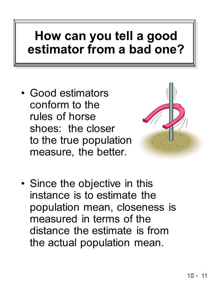 How can you tell a good estimator from a bad one