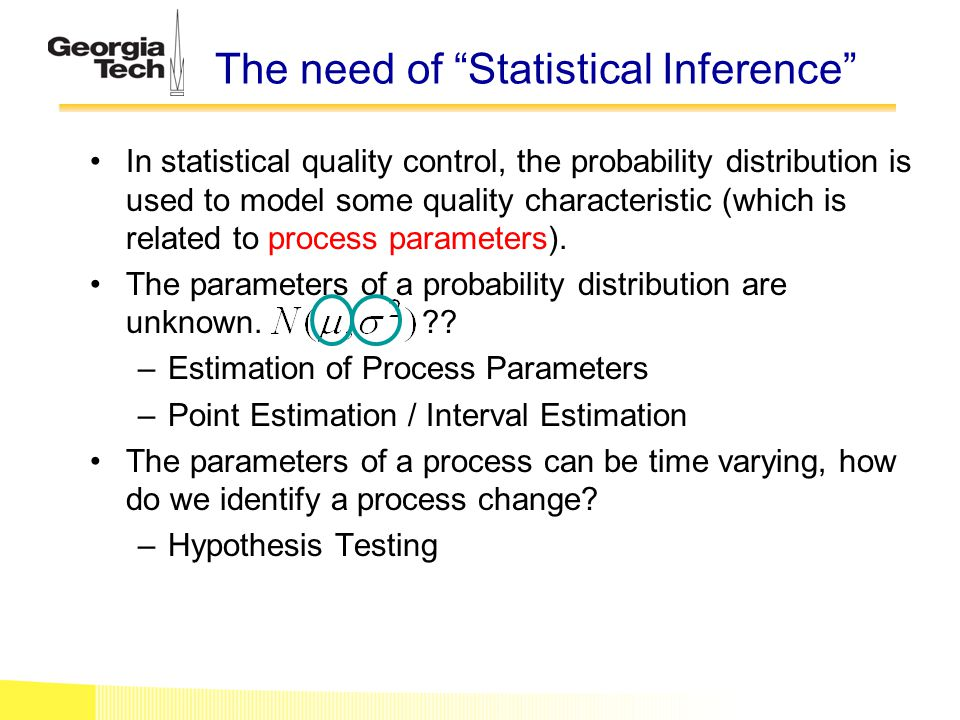 The need of Statistical Inference