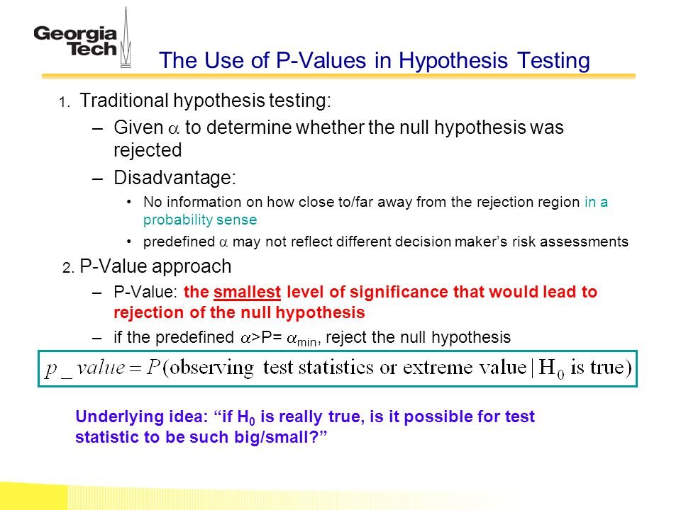 The Use of P-Values in Hypothesis Testing